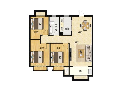 金科城3室2厅1卫-105m²-9