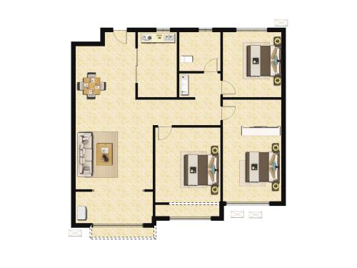 万科翡翠山语3室2厅1卫-108m²-1