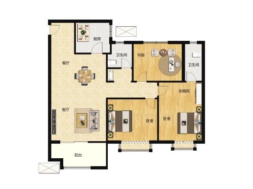 金科城3室2厅2卫-121m²-3
