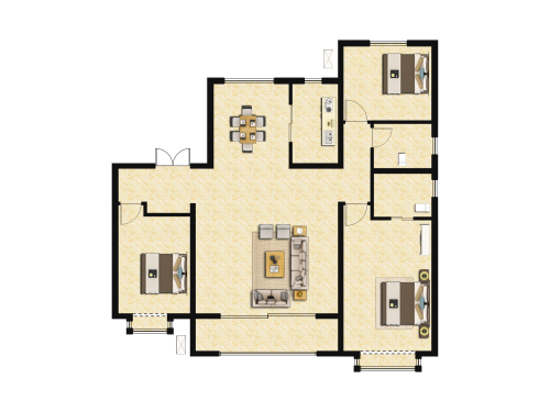 地平西棠甲第3室2厅2卫-145m²-11