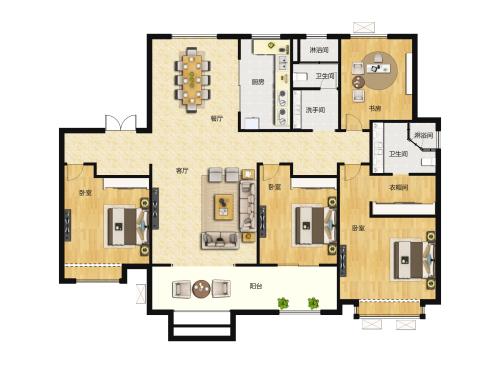 地平西棠甲第4室2厅2卫-168m²-5