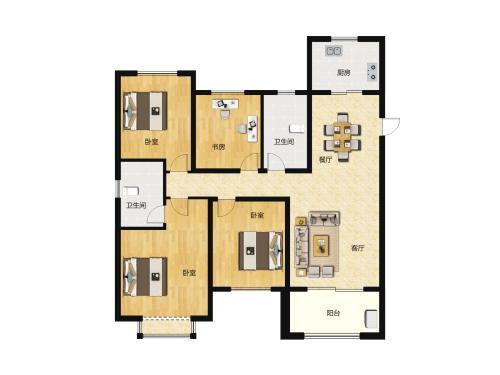 金科城4室2厅2卫-142m²-8