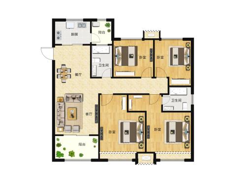 大尧风华盛景4室2厅2卫-139m²-2