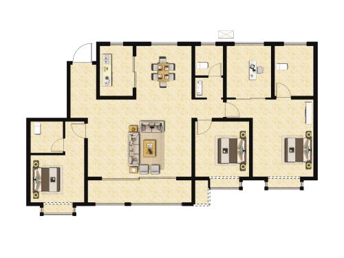 地平西棠甲第4室2厅2卫-174m²-4
