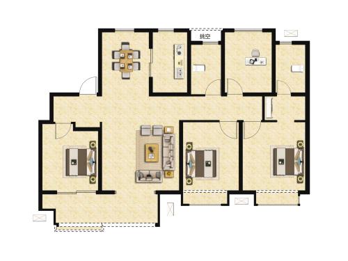 骏茂府4室2厅2卫-135m²-4