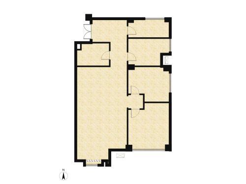 庞大城2室2厅2卫,A户型