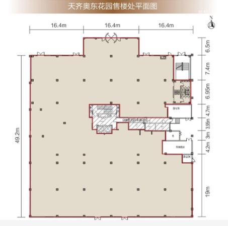天齐奥东花园1室0厅1卫,2117平米户型