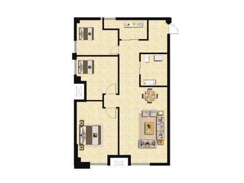 庞大城3室0厅0卫,113.21-115㎡户型图