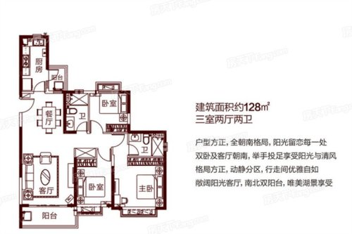 福清恒大城128平