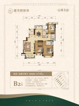 星河明珠湾山湖名庭B2户型