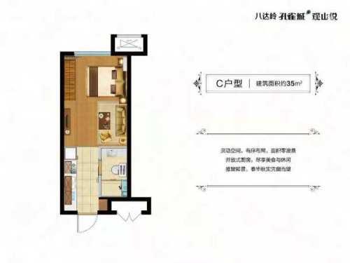 八达岭孔雀城平层公寓C户型