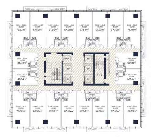 兰州西港星汇国际loft 户型图