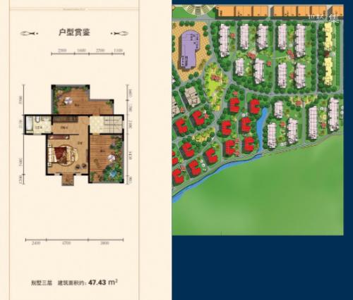 中城国际城双拼别墅251.02㎡(3层)