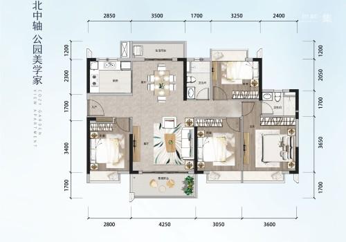 方直星澜128㎡ 4房2厅2卫
