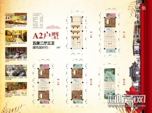 四方新桂园A2/五房三厅三卫/207㎡户型