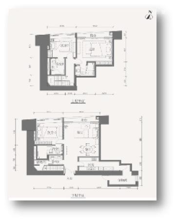 东海国际公寓200平城央复式