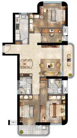 住宅·水晶地铁公元D户型