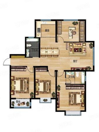 中凯·城市之光4室2厅2卫1厨