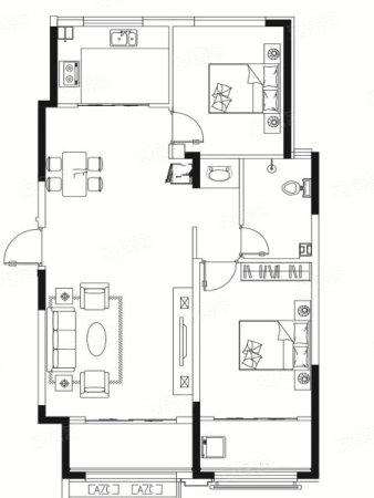 东方名郡2室2厅1卫