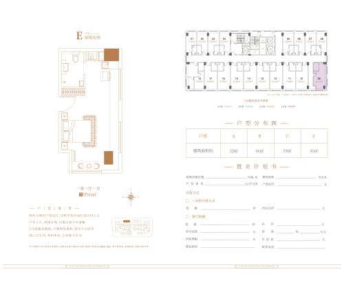 济南鲁坤天鸿·创谷1-2#公寓户型E