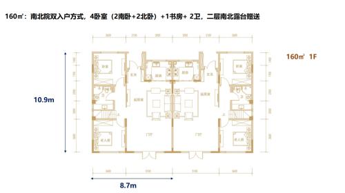 中铁青岛世博城阅峰160㎡别墅