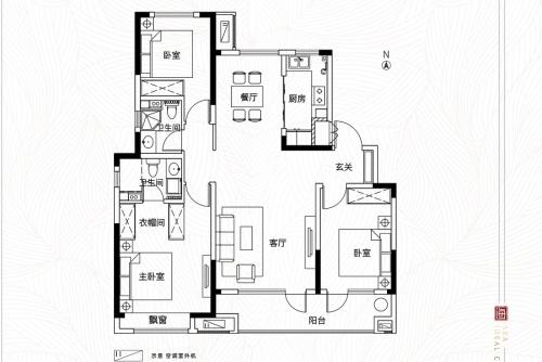 中国铁建海语城119平洋房户型