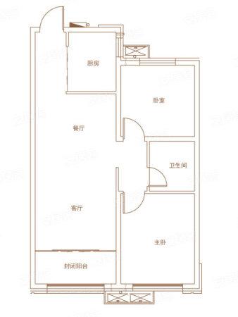 淄博宏程国际广场82㎡户型