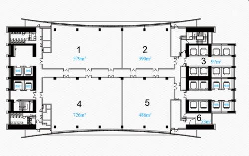 宁波环球航运广场写字楼整层平面图
