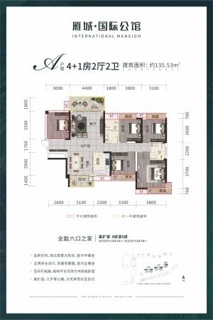 雁城·国际公馆A户型