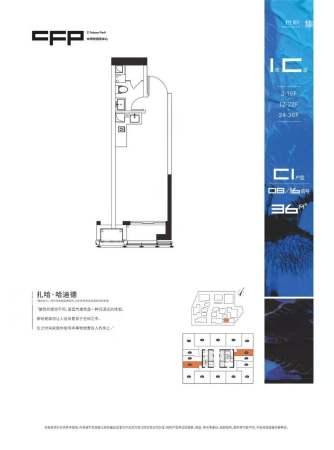 中洲铂玺坊C1户型