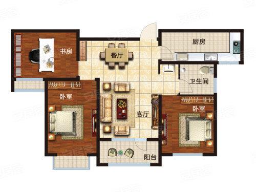 淄博文博苑3室2厅1卫1厨