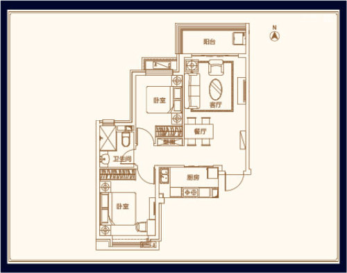 威海恒大御海半岛二室二厅一卫