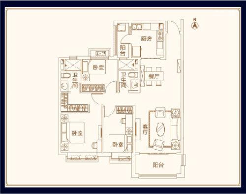 威海恒大御海半岛三室二厅二卫