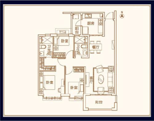 威海恒大御海半岛三室两厅一卫