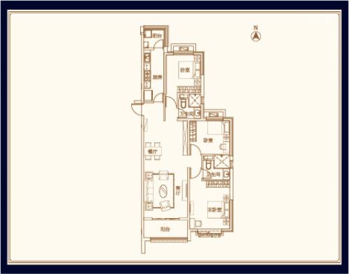 威海恒大御海半岛三室俩厅二卫
