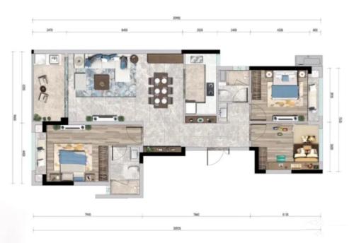 佳兆业航运红树湾3房2厅