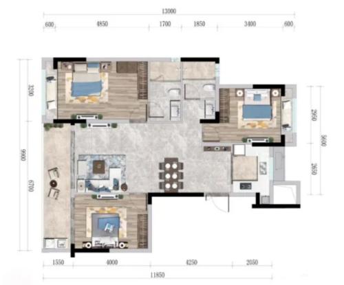 佳兆业航运红树湾3房2厅2卫