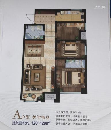 庞大城3室0厅0卫,129平米户型