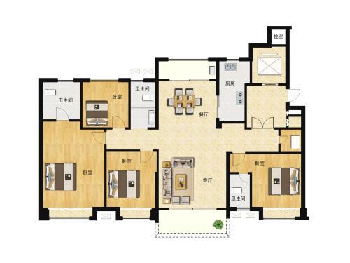 商河碧桂园公园上城4室2厅3卫,180-198平户型