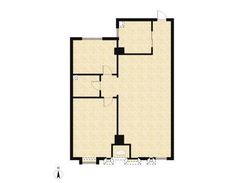 庞大城2室2厅1卫,89.96-90㎡户型图